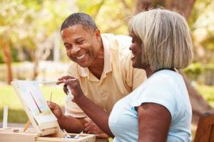 Senior Couple Painting - Medicare Advantage
