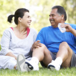 Senior Medicare Advantage Eligibility Couple Resting After Exercise