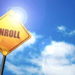 "Yellow Road Sign ""Enroll"""