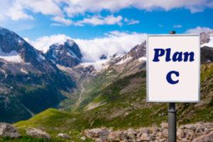 Billboard with Plan C Medigap - Colorado Mountains Background