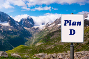 Billboard with Plan D Medigap - Colorado Mountains Background