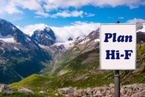 Billboard with Plan Hi-F Medigap - Colorado Mountains Background