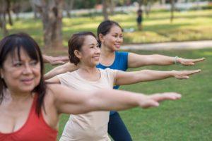 Women Enjoying physical activity in Colorado Park