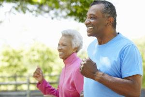 Seniors Running in Colorado Park - Rehabilitation
